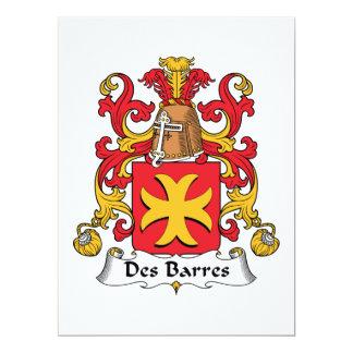 Des Barres Family Crest Card