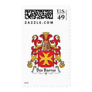Des Barres Family Crest Postage Stamps