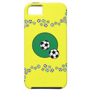 DES Buchstabe-Q im Fußball-Grün de Monogramm iPhone 5 Cárcasa
