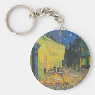 DES Cafés de Van Gogh Terrasse un der Place du For Llavero Redondo Tipo Pin