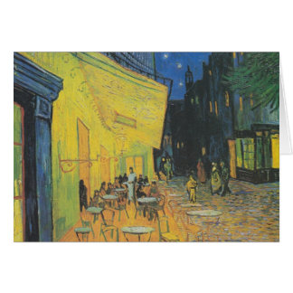 DES Cafés de Van Gogh Terrasse un der Place du For Tarjeta De Felicitación