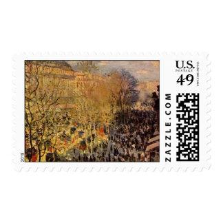 DES Capucines de Claude Monet, bella arte del Estampilla