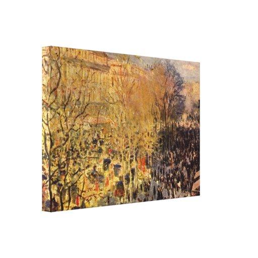 DES Capucines del bulevar de Claude Monet Impresiones De Lienzo