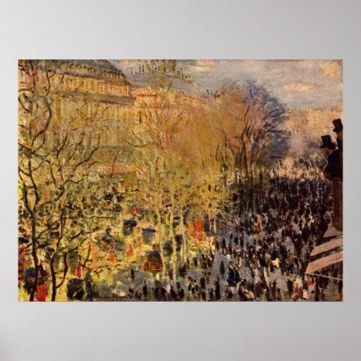 DES Capucines del bulevar de Claude Monet Póster