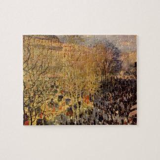 DES Capucines del bulevar de Claude Monet Rompecabezas Con Fotos
