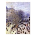 DES Capucines, Monet, bella arte del bulevar del v Tarjetas Postales