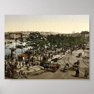 DES Celestins, el mercado de Quay de St. Antoine,  Poster