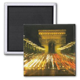 DES Champs-Elysees, arco de la avenida de Triumph, Imán Cuadrado
