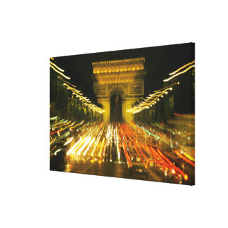 DES Champs-Elysees, arco de la avenida de Triumph, Impresiones En Lienzo Estiradas