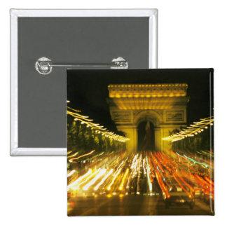 DES Champs-Elysees, arco de la avenida de Triumph, Pin Cuadrado