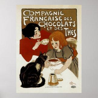 DES Chocolats de Compagnie Francaise Poster