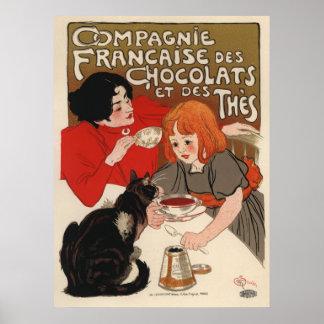 DES Chocolats de Compagnie Francaise Póster