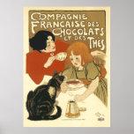 DES Chocolats de Steinlen - de Compagnie Francaise Posters