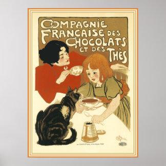DES Chocolats de Steinlen - de Compagnie Francaise Póster