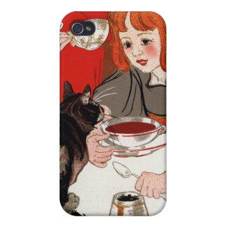 DES Chocolats, Steinlen de Compagnie Francaise iPhone 4/4S Funda