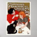 DES Chocolats, Steinlen de Compagnie Francaise Posters
