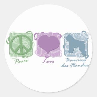 DES en colores pastel Flandres de la paz del amor Etiqueta