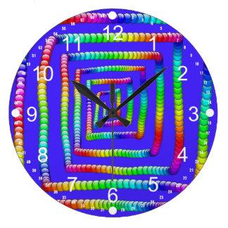 DES enrrollado fresco de las esferas del círculo d Reloj De Pared