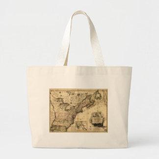 DES Etats-Unis de l'Amerique (1783) de la carta Bolsa Tela Grande