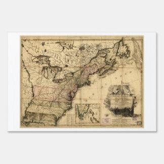 DES Etats-Unis de l'Amerique (1783) de la carta