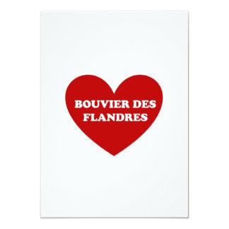 """DES Flandres de Bouvier Invitación 5"""" X 7"""""""