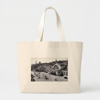 DES Guillemins, vintage de Gare de Lieja Bélgica Bolsa Tela Grande