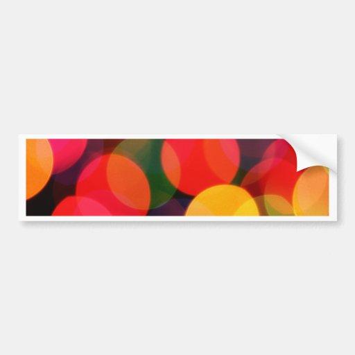 DES hermoso de los colores de Digitaces de la falt Pegatina De Parachoque