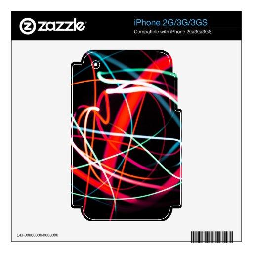 DES hermoso de los colores de Digitaces de la falt Calcomanía Para El iPhone 3