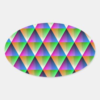 DES hermoso de los colores de Digitaces de la falt Calcomania Oval Personalizadas