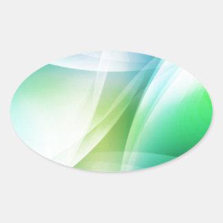 DES hermoso de los colores de Digitaces de la falt Colcomanias Óval Personalizadas