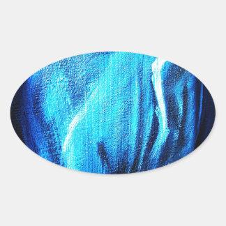 DES hermoso de los colores de Digitaces de la falt Calcomanías De Ovales