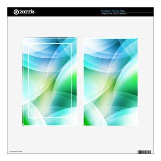 DES hermoso de los colores de Digitaces de la Kindle Fire Pegatinas Skins