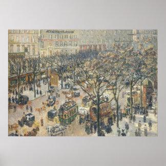 DES Italiens, mañana, luz del sol, 1897 del buleva Poster