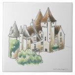 DES Milandes, Francia del castillo francés Azulejo Cuadrado Grande