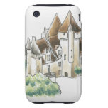 DES Milandes, Francia del castillo francés Funda Though Para iPhone 3