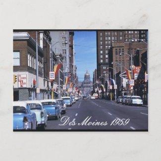 Des Moines 1959 Postcard postcard