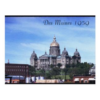 Des Moines 1959 Postcard