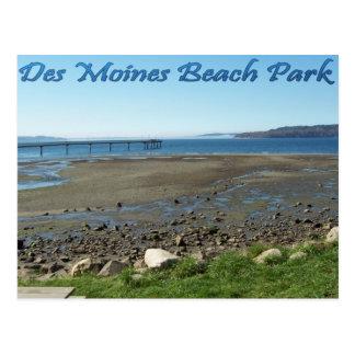 Des Moines Beach Park (tide out) Post Cards