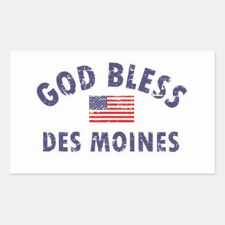 DES MOINES city DESIGNS Rectangular Sticker