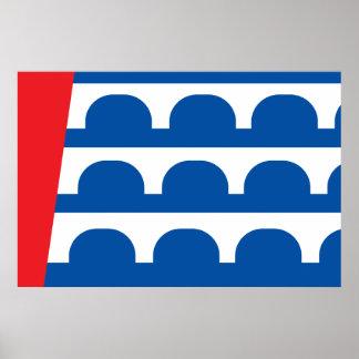 Des Moines city flag Posters