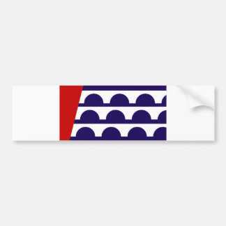 des moines city flag united state america iowa bumper sticker