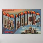 Des Moines, Iowa (Capital Building) Print