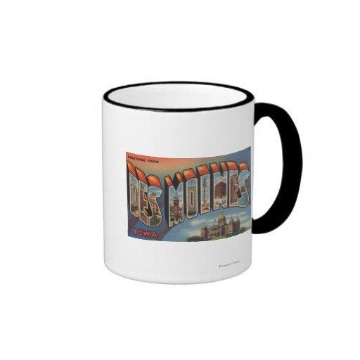 Des Moines, Iowa (Capital Building) Ringer Mug