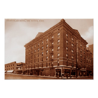 Des Moines Iowa Chamberlain Hotel Poster