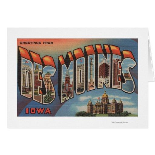 Des Moines, Iowa (edificio capital) Tarjeta De Felicitación