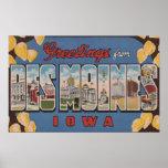 Des Moines, Iowa - escenas grandes 2 de la letra Póster