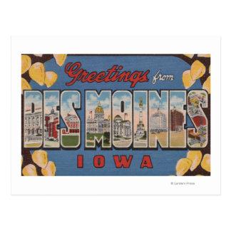 Des Moines Iowa - escenas grandes 2 de la letra Tarjetas Postales
