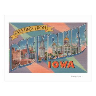 Des Moines Iowa - escenas grandes 3 de la letra Postal