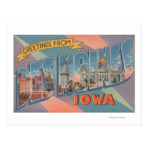 Des Moines, Iowa - escenas grandes 3 de la letra Postal
