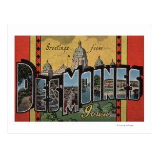 Des Moines Iowa - escenas grandes de la letra Tarjeta Postal
